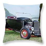 1930 Ford Model A Roadster 'oceanside' Throw Pillow
