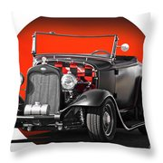 1930 Ford 'red Ball Express' II Throw Pillow