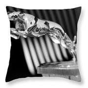 1930 Lincoln Berline Hood Ornament Throw Pillow