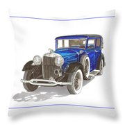 1930 Lincoln L Berline Throw Pillow