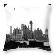 1930 Midtown Manhattan Throw Pillow
