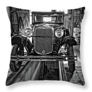 1930 Model T Ford Monochrome Throw Pillow