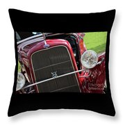 1930 Red Ford Model A-front-8886 Throw Pillow