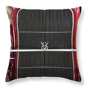 1930 Red Ford Model A-grill-8885 Throw Pillow