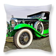 1930 Willys Knight 66b-plaidside Throw Pillow