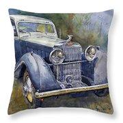 1938 Hispano Suiza J12 Throw Pillow