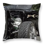 1931 Black Ford Roadster Throw Pillow