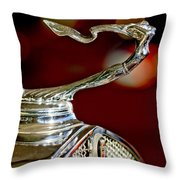1931 Cadillac 355 A Roadster Hood Ornament Throw Pillow