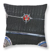 1931 Cadillac Phaeton Grille And Headlights Throw Pillow