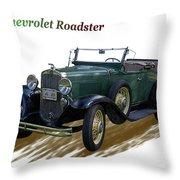1931 Chevrolet Antique Roadster Throw Pillow