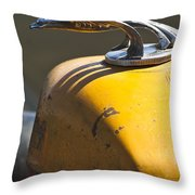1931 Chevrolet Hood Ornament On A 1951 For Rat Rod Throw Pillow