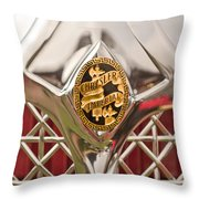 1931 Chrysler Cg Imperial Lebaron Roadster Grille Emblem Throw Pillow by Jill Reger