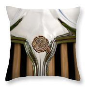 1931 Chrysler Coupe Grille Emblem Throw Pillow
