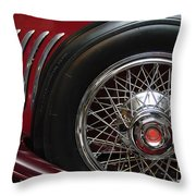 1931 Duesenberg Model J Spare Tire Throw Pillow