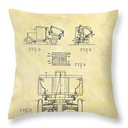 1931 Dump Truck Patent Throw Pillow