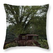 1931 Ford Model A Final Resting Place Throw Pillow