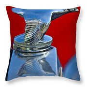 1931 Ford Model A Quail Hood Ornament Throw Pillow