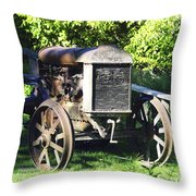 1931 Fordson Tractor Throw Pillow