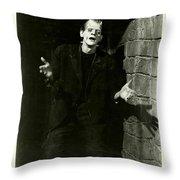 1931 Frankenstein Boris Karloff Throw Pillow