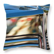1931 Marmon Sixteen Coupe Hood Ornament Throw Pillow