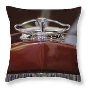 1931 Packard 840 Roadster Hood Ornament Throw Pillow