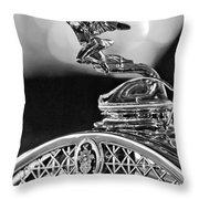 1931 Packard Convertible Victoria Hood Ornament 2 Throw Pillow