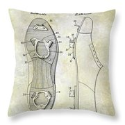 1932 Baseball Cleat Patent Throw Pillow