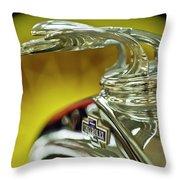 1932 Chevrolet Hood Ornament Throw Pillow
