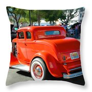 1932 Ford  5 Window Coupe Throw Pillow