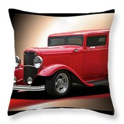1932 Ford 'cherry Bomb' Sedan Throw Pillow