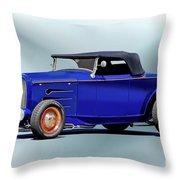 1932 Ford 'classic Hiboy' Roadster Xa Throw Pillow