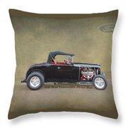 1932 Ford Convertible Street Rod Throw Pillow