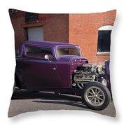 1932 Ford 'grape Soda' Coupe Throw Pillow