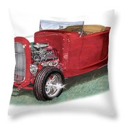 1932 Ford Hi-boy Hot Rod Throw Pillow