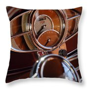 1932 Ford Hot Rod Speedometer Throw Pillow