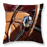 1932 Ford Hot Rod Steering Wheel 2 Throw Pillow