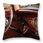 1932 Ford Hot Rod Steering Wheel 3 Throw Pillow