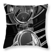 1932 Ford Hot Rod Steering Wheel 4 Throw Pillow