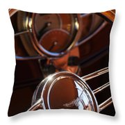 1932 Ford Hot Rod Steering Wheel Throw Pillow