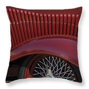 1932 Ford Hot Rod Wheel Throw Pillow