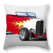 1932 Ford 'hot Stuff' Roadster Throw Pillow
