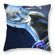 1932 Ford Quail Hood Ornament Throw Pillow