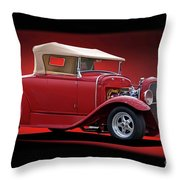 1932 Ford 'rag Top' Roadster Throw Pillow