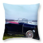 1932 Ford Roadster 'shoreline' Throw Pillow