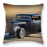 1932 Ford 'silky Satin' Coupe I Throw Pillow