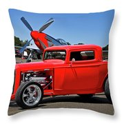 1932 Ford 'three Window' Coupe Vx Throw Pillow