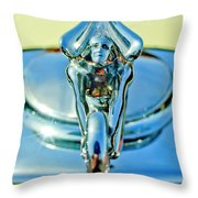 1932 Packard Hood Ornament 3 Throw Pillow