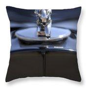 1932 Packard Hood Ornament Throw Pillow