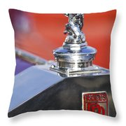 1932 Rolls-royce Hood Ornament 2 Throw Pillow