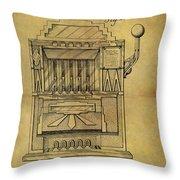 1932 Slot Machine Patent Throw Pillow
